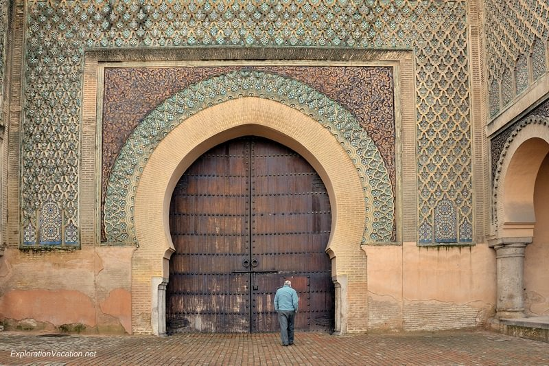 Bab el-Mansour Mekness Morocco gates - www.ExplorationVacation.net