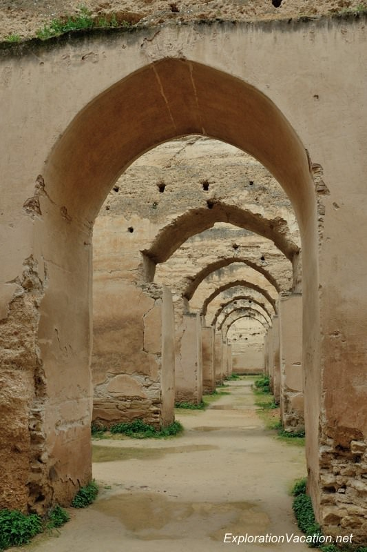 Heri es-Souani grainary in Meknes Morcco - www.explorationvacation.net