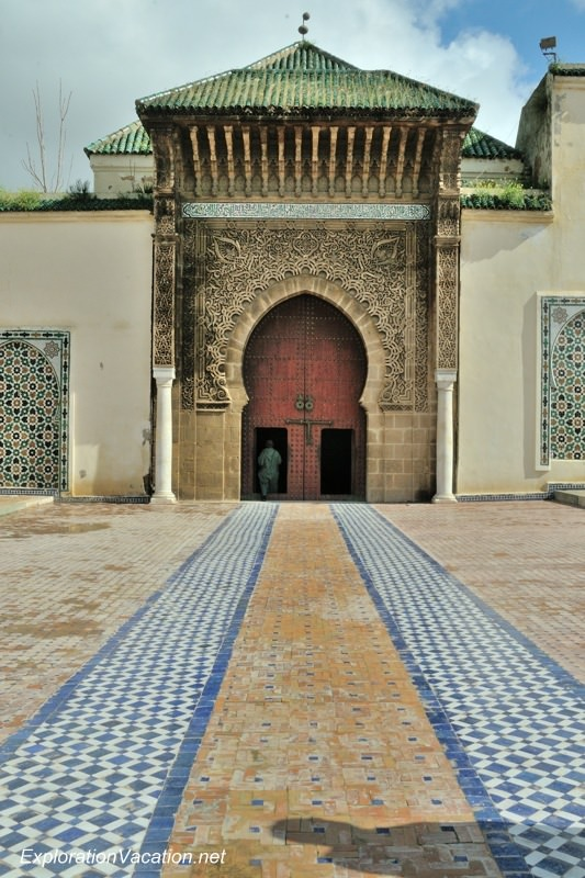 Mausoleum of Moulay Ismael Mekness Morocco -www.ExplorationVacation.net