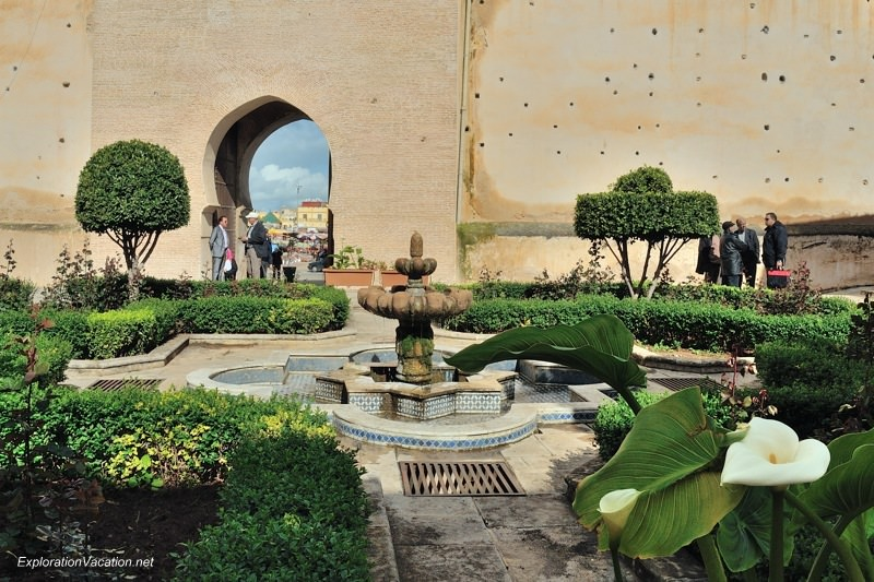 Meknes Morocco garden behind the Bab el-Mansour gate and garden - www.ExplorationVacation.net