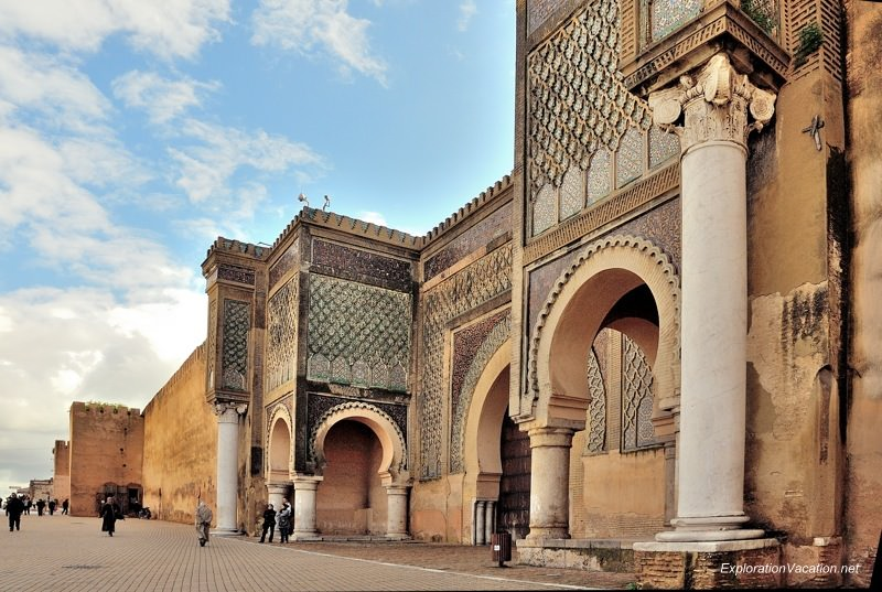 Meknes Morocco gate of Bab el-Mansour - www.ExplorationVacation.net