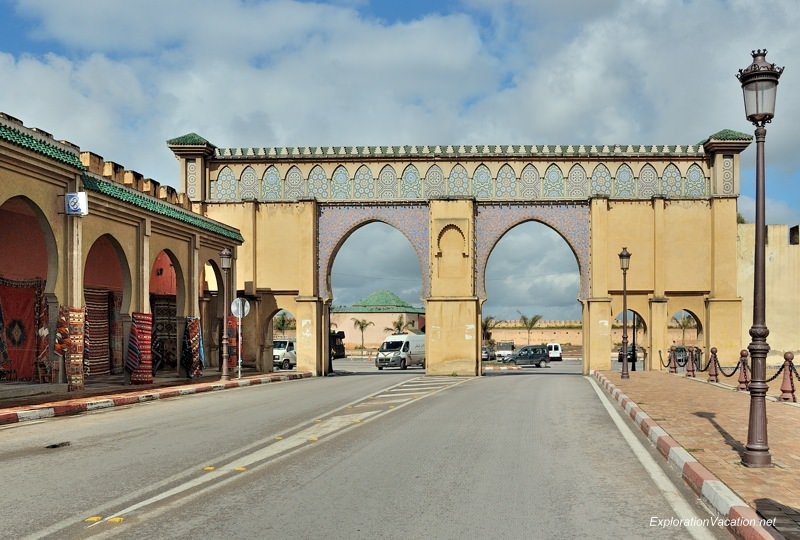 Meknes Morocco gates - www.explorationvacation.net