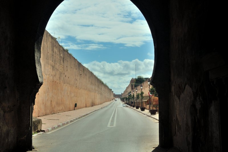 Meknes Morocco city wall - www.explorationvacation.net