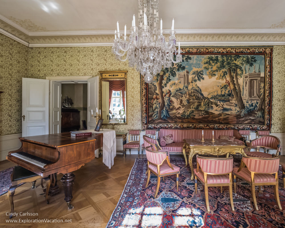 drawing room Sparreholm Castle Sweden - www.ExplorationVacation.net