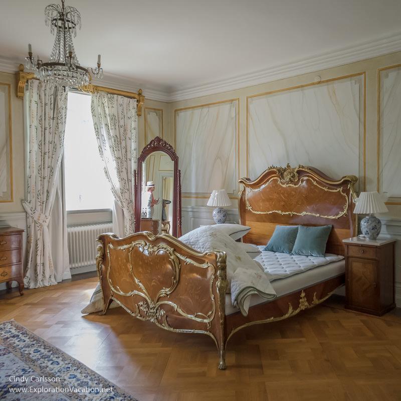 bedroom Sparreholm Castle Sweden - www.ExplorationVacation.net