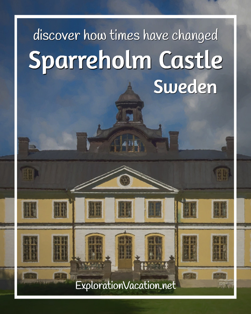 Painted view of Sparreholm Castle in Sweden's rural castle and manor country - ExplorationVacation #Sweden #VisitSweden #VisitSörmland #sponsoredtravel