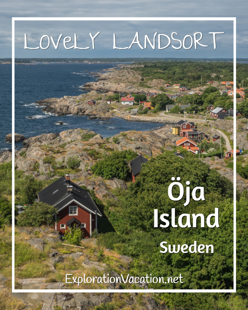 Lovely Oja Island from #Landsort #Lighthouse in Sweden's Stockholm Archipelago - ExplorationVacation #VisitSweden #landsort #bythesea