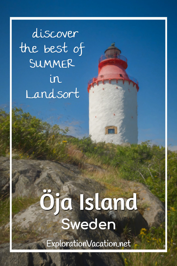 Painting of lovely #Landsort #Lighthouse on Oja Island in Sweden's Stockholm Archipelago - ExplorationVacation #visitsweden #swedishsummer #ojaisland