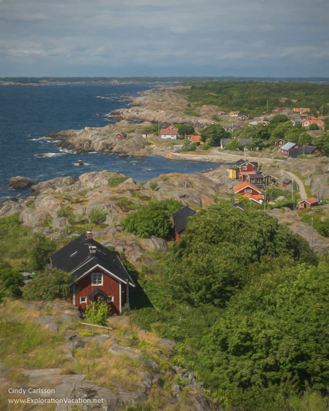 Painting of lovely Oja Island from #Landsort #Lighthouse in Sweden's Stockholm Archipelago - ExplorationVacation #VisitSweden #landsort #bythesea