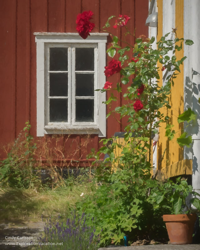 A painted garden in #Landsort on Oja Island in Sweden's Stockholm Archipelago - ExplorationVacation #VisitSweden #summergarden