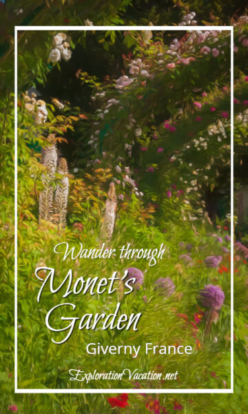 "flowers with text ""Monet's Garden Giverny France"""