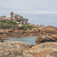 The Ploumanac'h lighthouse along Brittany's Pink Granite Coast (Côte de Granit Rose) Brittany France - www.ExplorationVacation.net