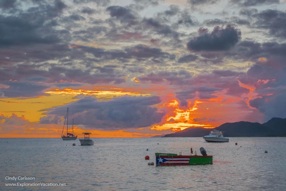 Sunset in Esperanza on Vieques - www.ExplorationVacation.net