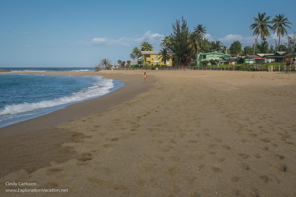 Beach along Puerto Rico's north coast - www.ExplorationVacation.net