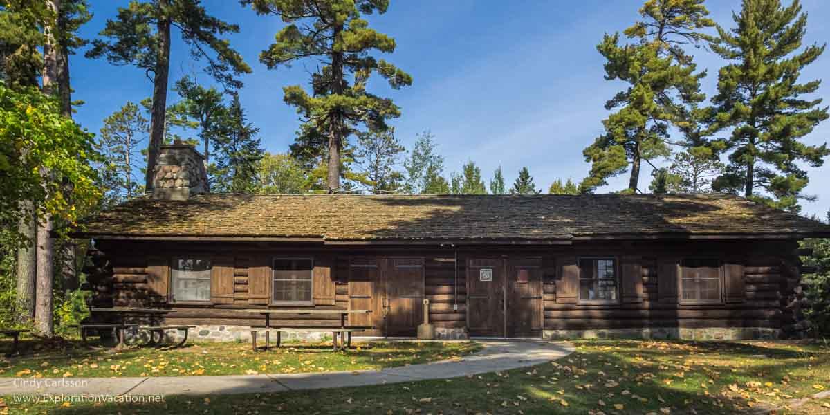 Historic picnic shelter in Scenic State Park