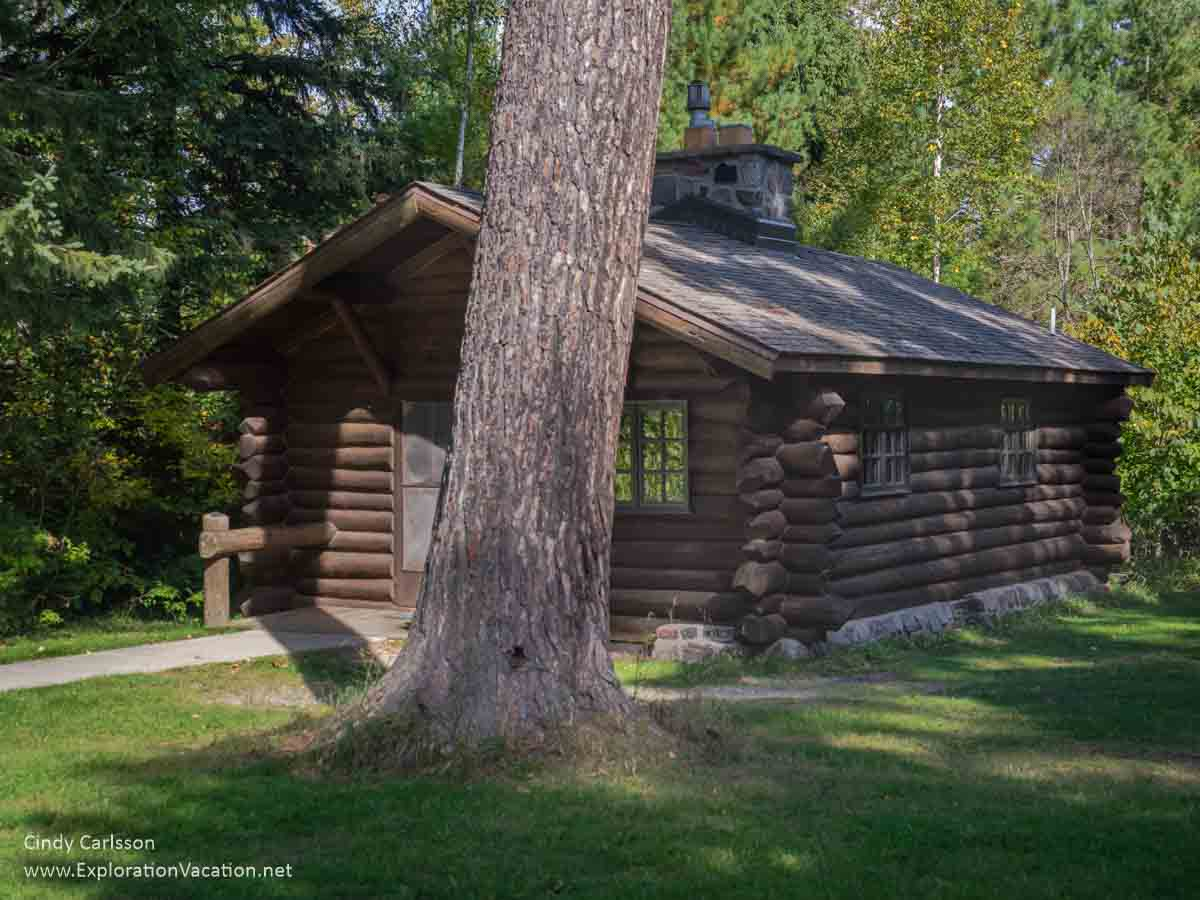 Historic cabin in Scenic State Park in northern Minnesota - www.ExplorationVacation.net