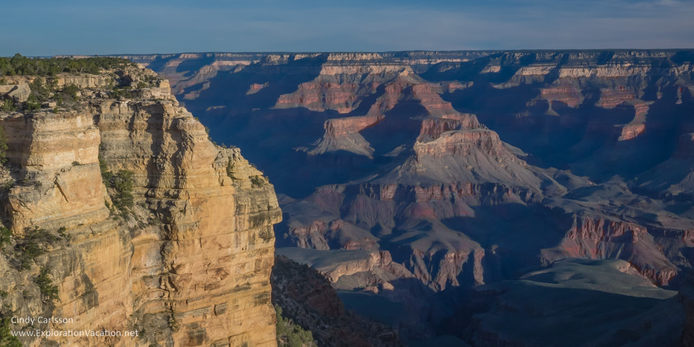 Scenic views from the Grand Canyon's south rim - Yavapai Point - www.ExplorationVacation.net