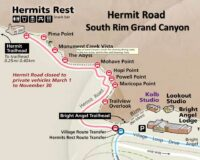 south rim Grand Canyon Hermit Road NPS map