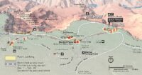 Grand canyon visitor center and village map