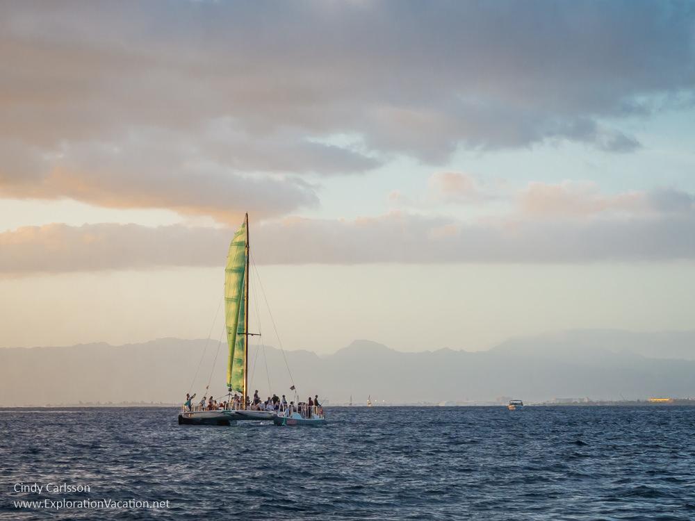 Photo of Sunset sail along Honolulu's Waikiki Beach by ExplorationVacation.net