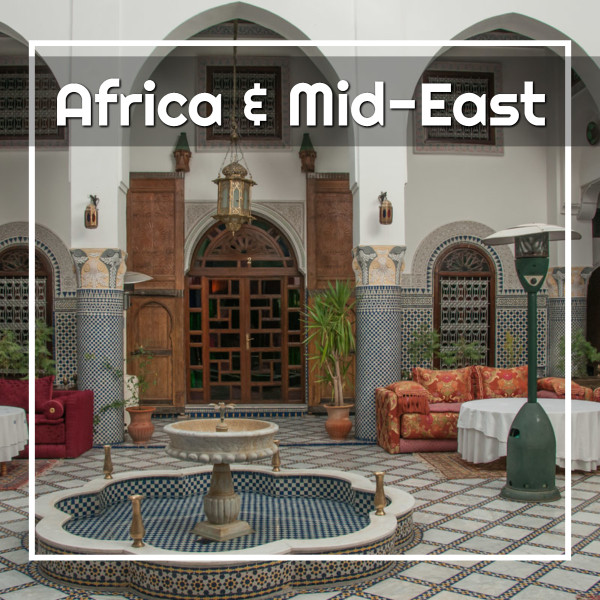 "Riad with text ""Africa and Mid-East"""