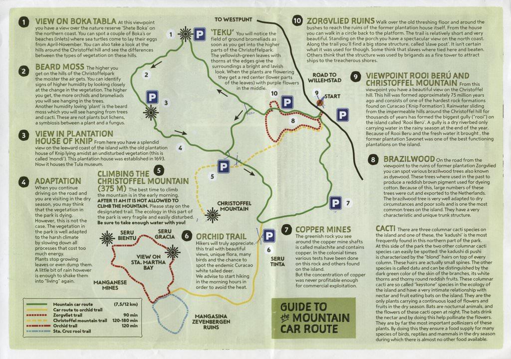 Mountain Route through Christoffel National Park Curacao - ExplorationVacation.net