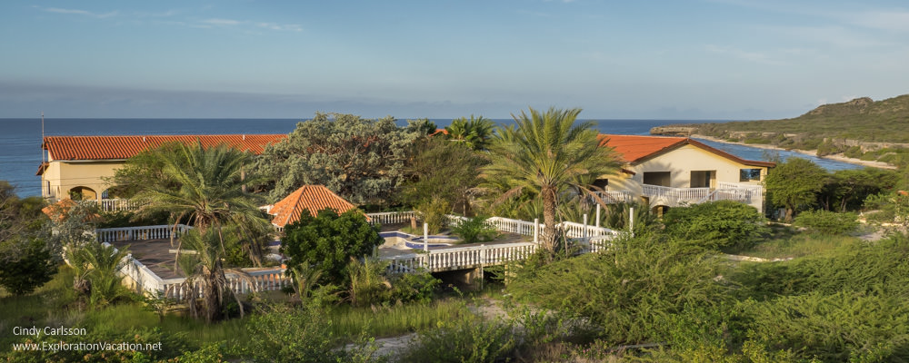 Just part of the view from our rooftop deck in Curacao - ExplorationVacation