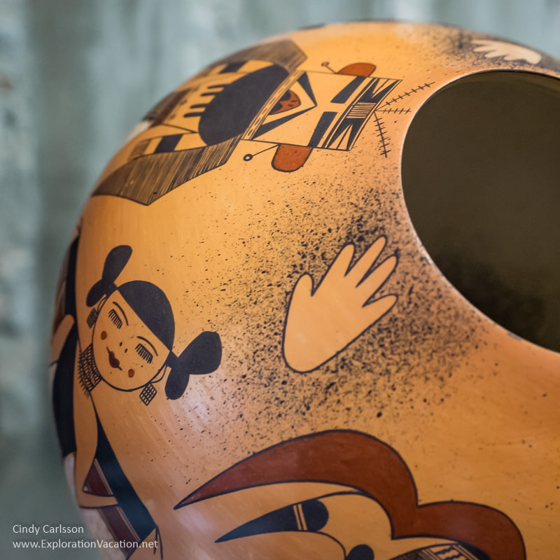 Hopi pottery by Jacob Koopee at Western Spirit Scottsdale Arizona - www.ExplorationVacation.net