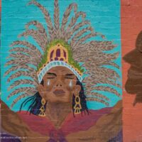 Ajo Arizona mural designed by Kat Anderson - ExplorationVacation.net