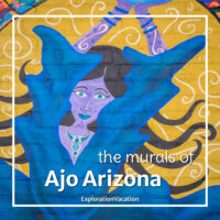 """painting of a woman with text """"the murals of Ajo Arizona"""""""