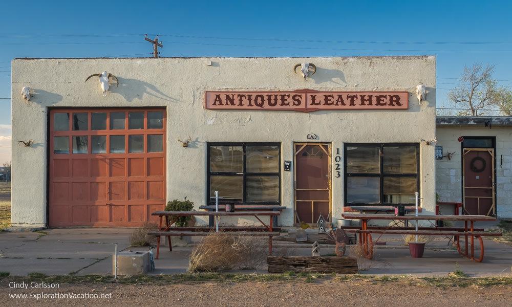 Antique store along historic Route 66 in Tucumcari New Mexico - ExplorationVacation.net