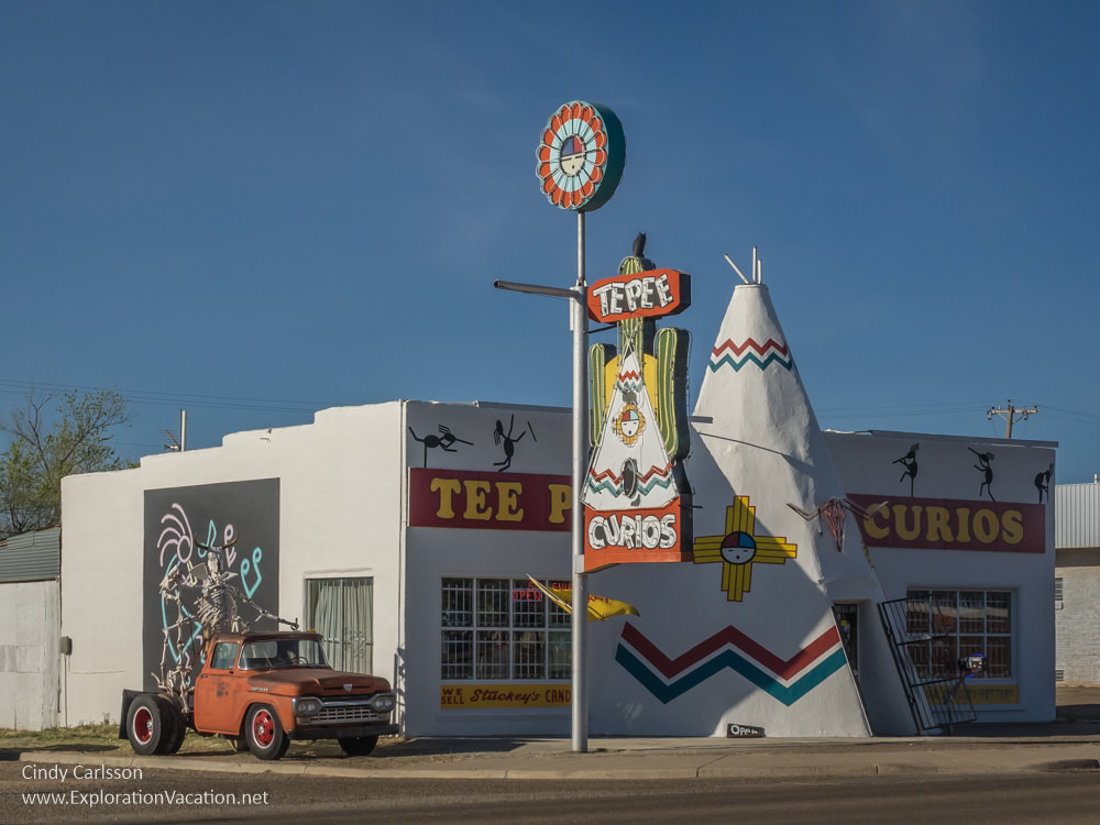 Tee Pee Curios along historic Route 66 in Tucumcari New Mexico - ExplorationVacation.net