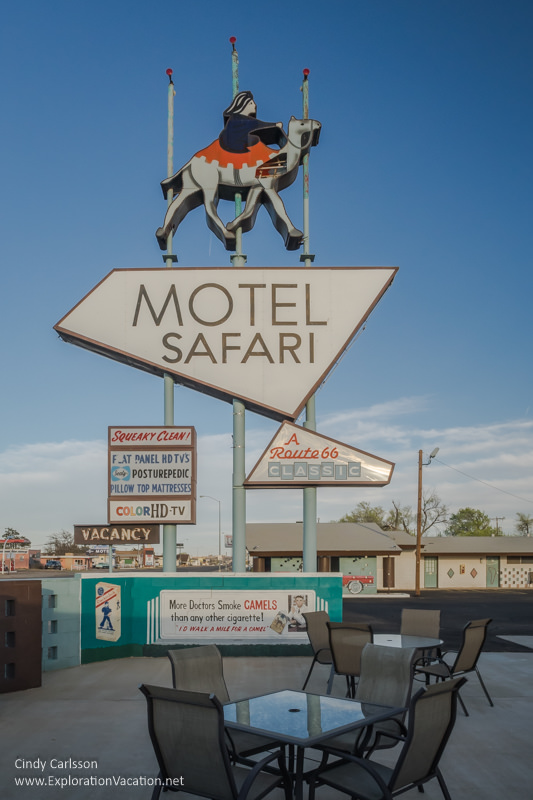 Motel Safari sign with camel
