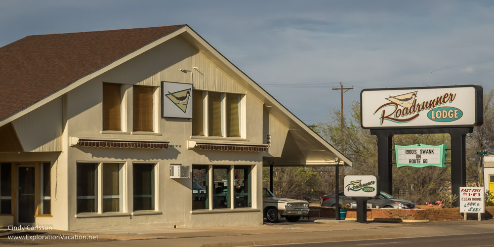 Roadrunner Lodge on historic Route 66 in Tucumcari New Mexico - ExplorationVacation.net