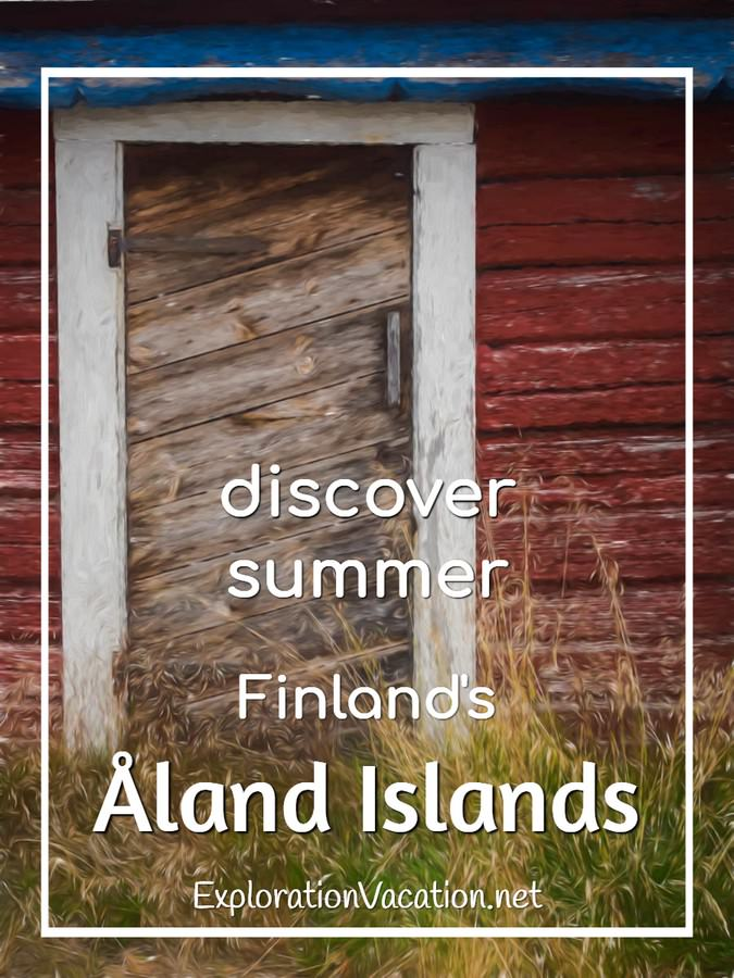 Open the door to find the perfect summer vacation in Finland's Åland Islands (painting) - ExplorationVacation #Finland #visitåland #discoverfinland #summervacation #alandislands