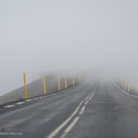 road with fog