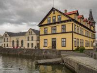 historic yellow building