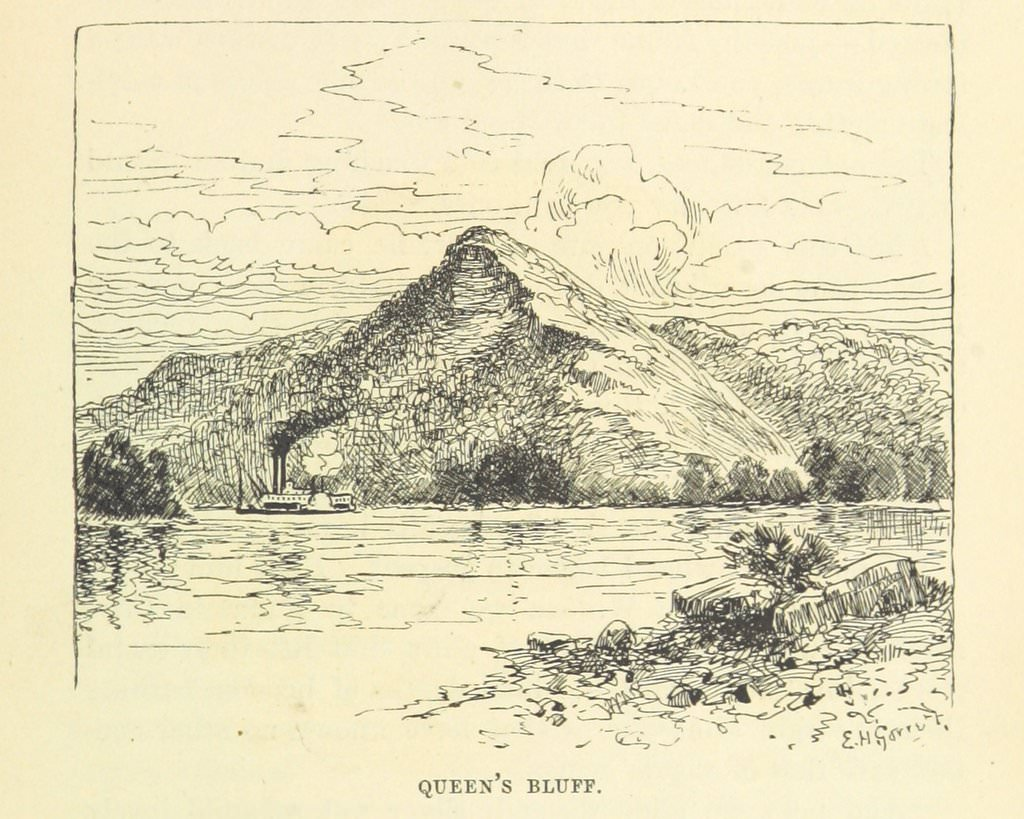 sketch of Queen's Bluff