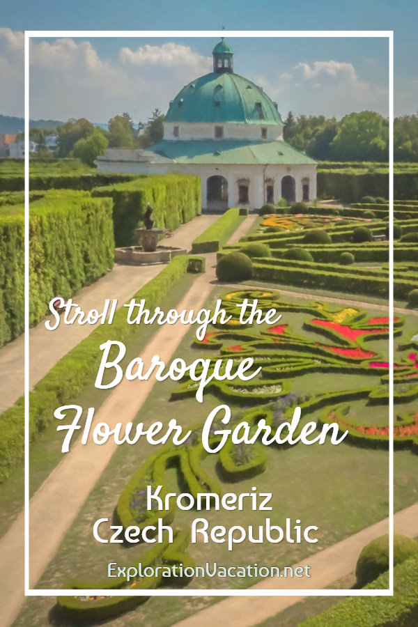painting of the flower garden and Rotunda with title text