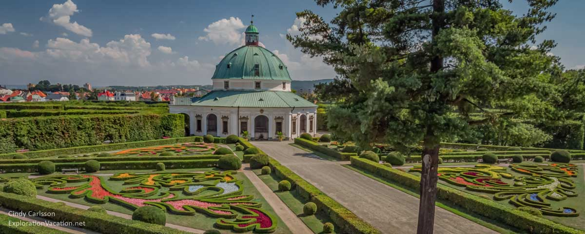 panoramic view of the Baroque garden