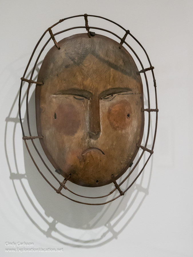 carved wood and painted mask
