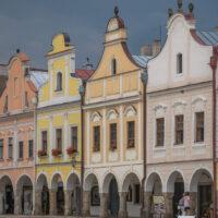 pastel colored Renaissance facades