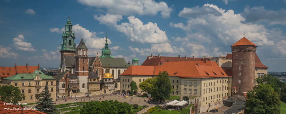 panorama of Wawel Castle compound