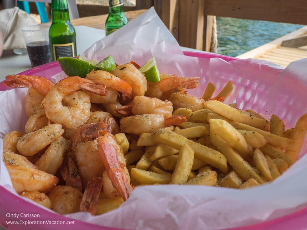 basket of shrimp and French fries