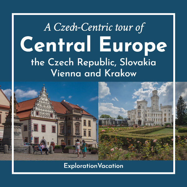 "photos of buildings and ""Central Europe"" text"