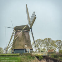 traditional windmill on a still day