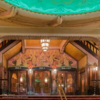 colorful theater lobby