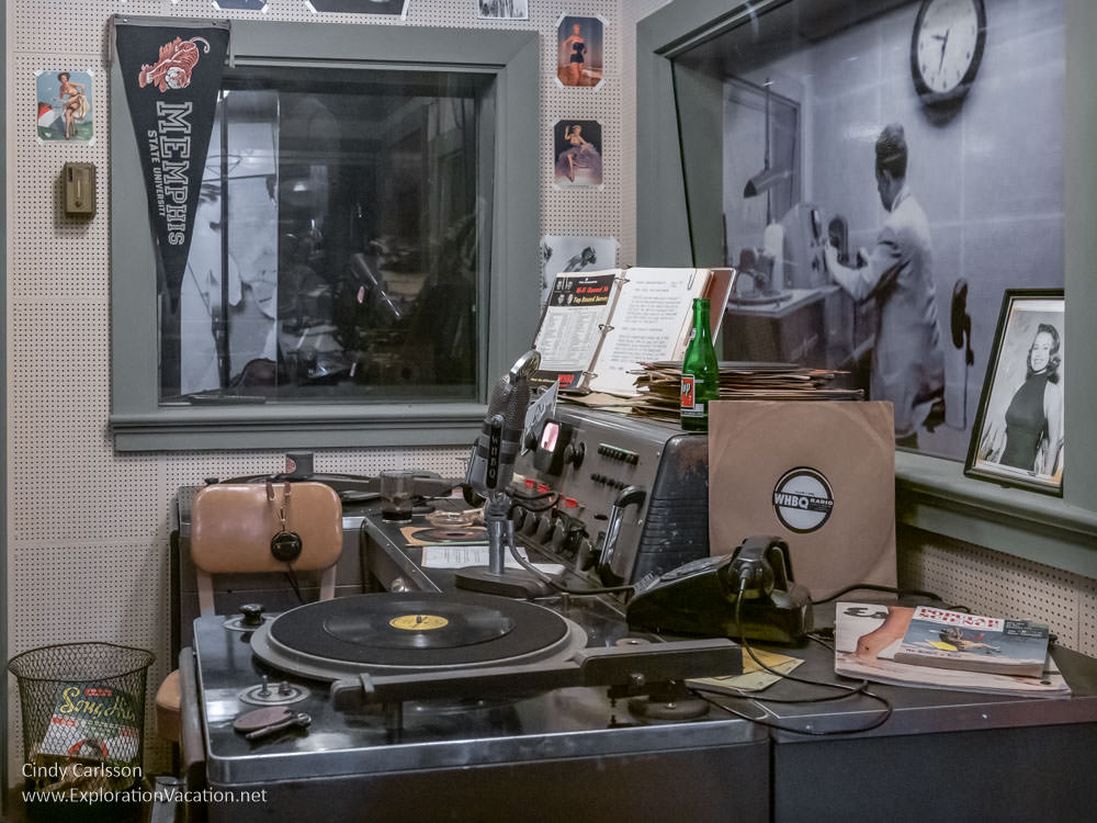 exhibit of a 1950s radio station office