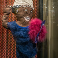 felt doll of singer Ma Rainey