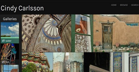 snapshot of Cindy Carlsson photography website